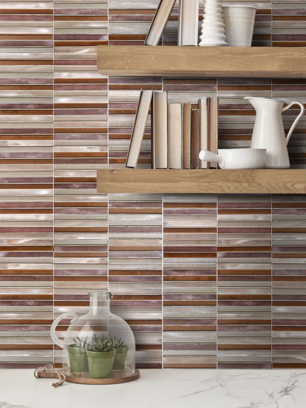 BA1116 Self adhesive metal backsplash tiles
