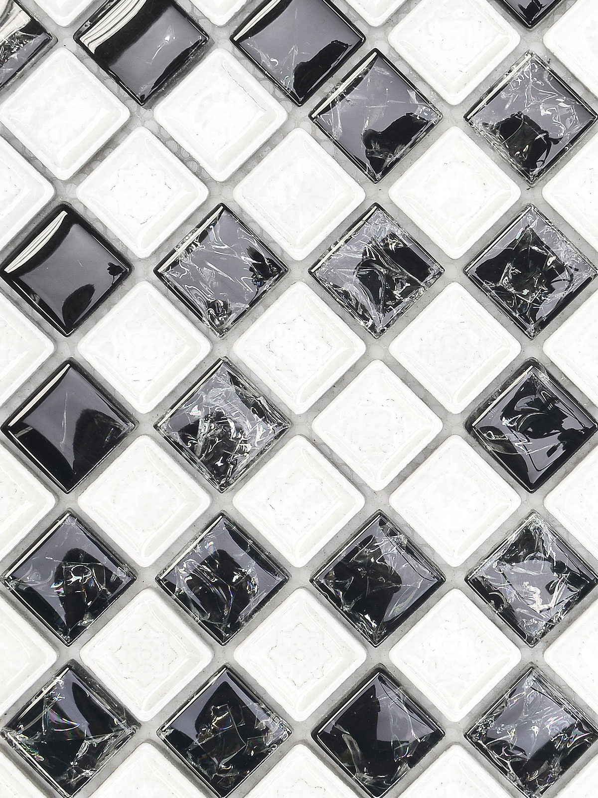 BA1152 Black White Glass Ceramic Backsplash Tile from backsplash.com
