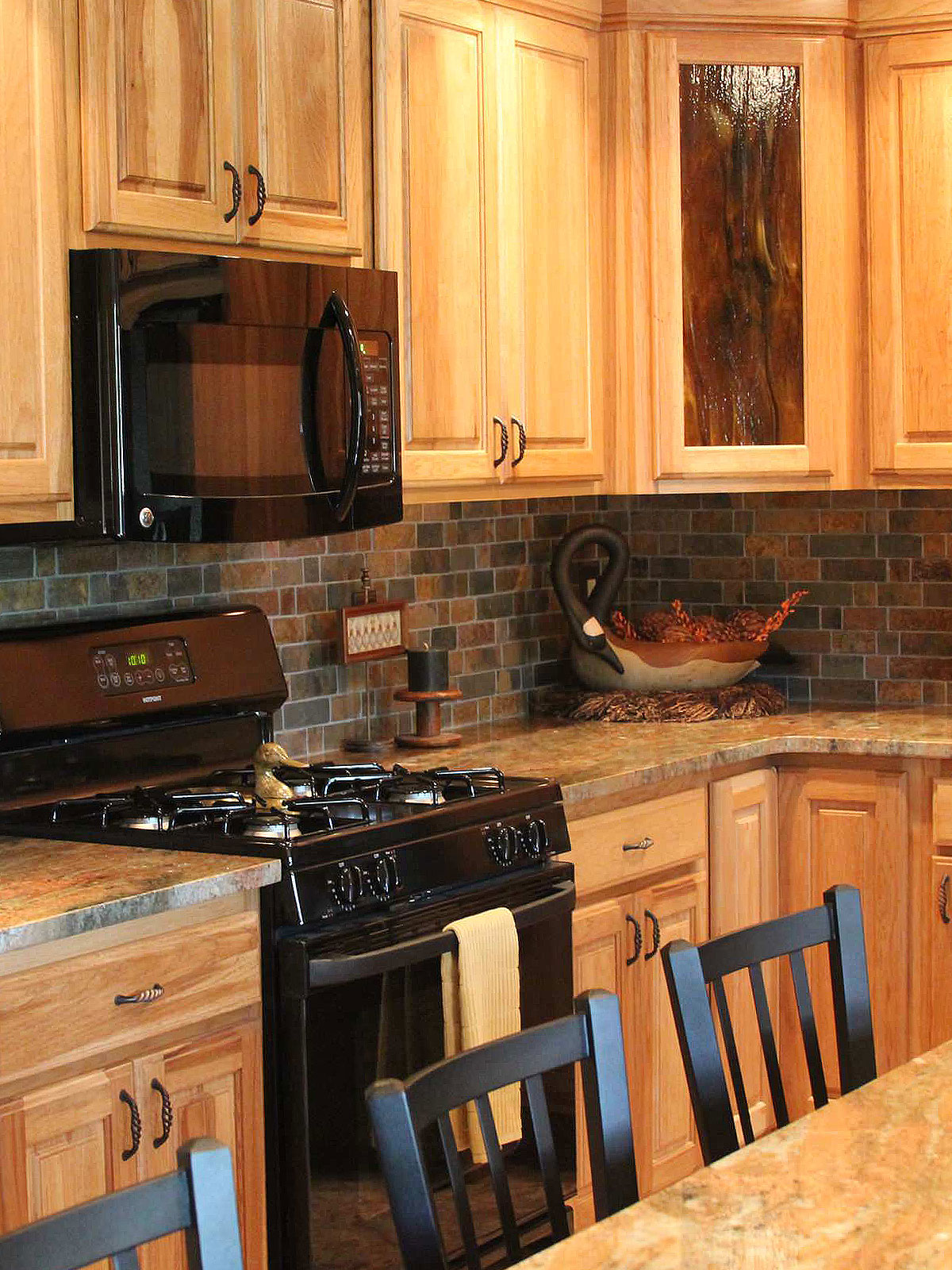 Rusty Brown Slate Mosaic Backsplash Tile For Traditional Kitchen