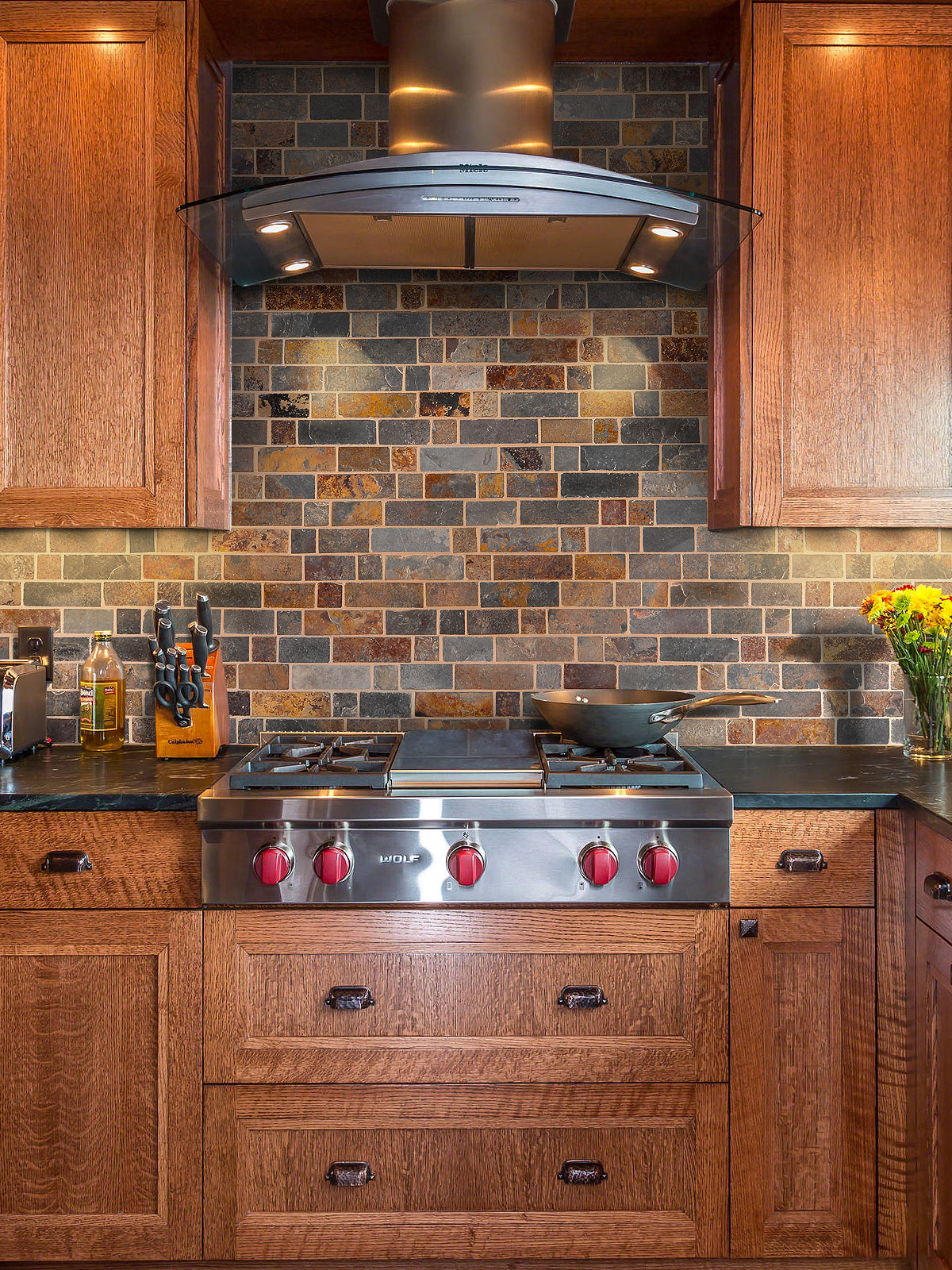 slate backsplashes for kitchens rusty brown slate mosaic backsplash tile for traditional kitchen 826