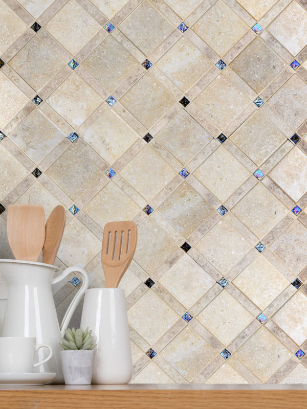 BA1029 Limestone Mosaic Backsplash Tile