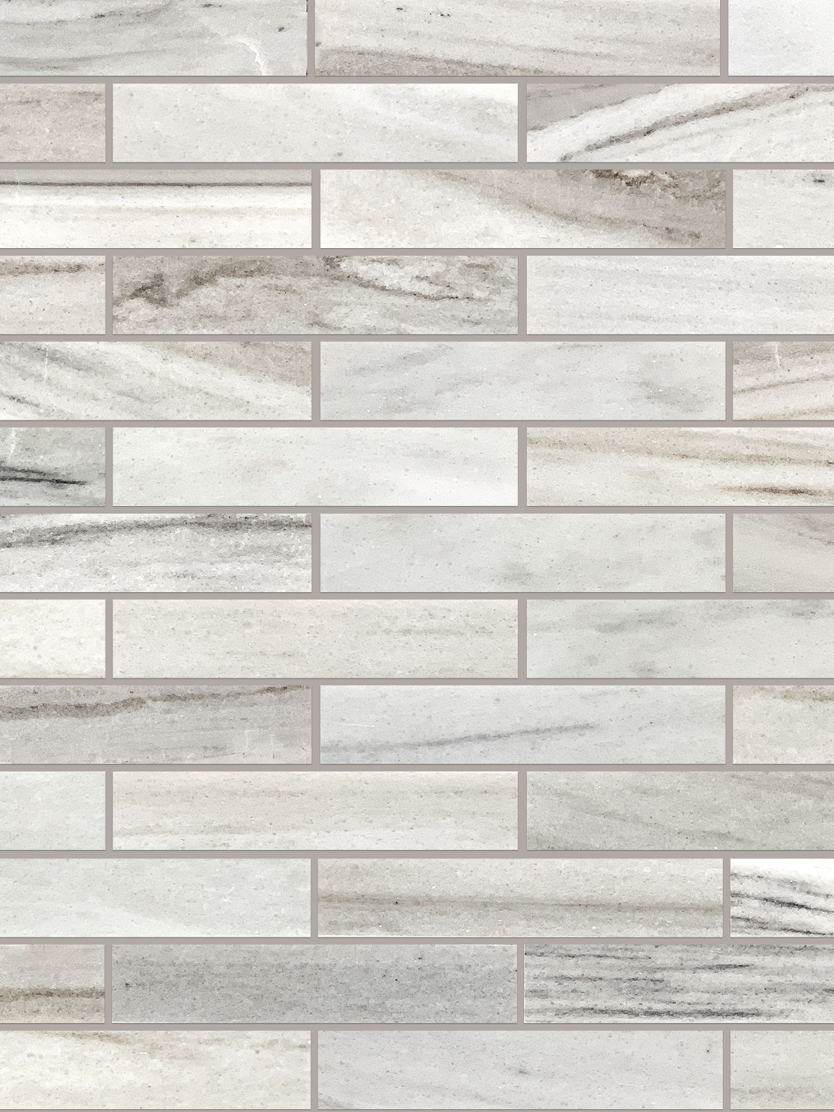 BA1034 Modern subway white gray brown marble mosaic backsplash tile