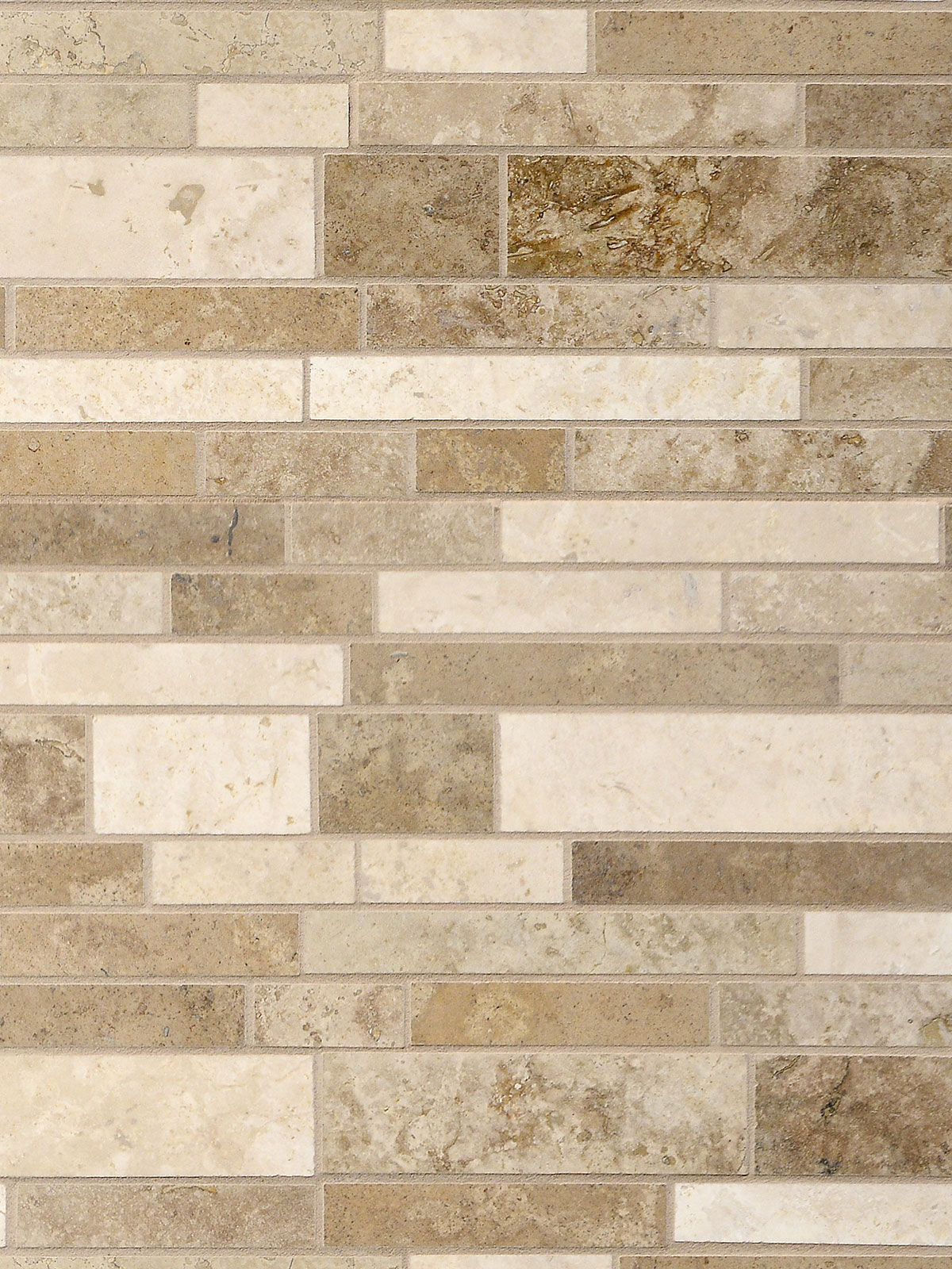 Brown beige travertine subway mosaic backsplash tile 1 BA1024