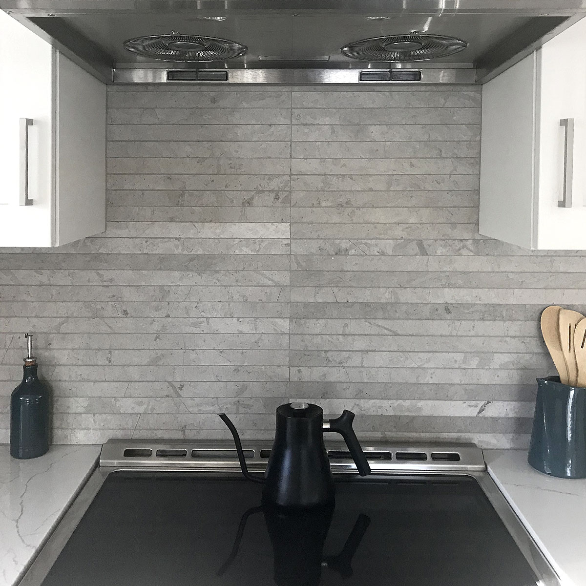 - MODERN Light Gray Subway Backsplash Tile (Contemporary Design!)