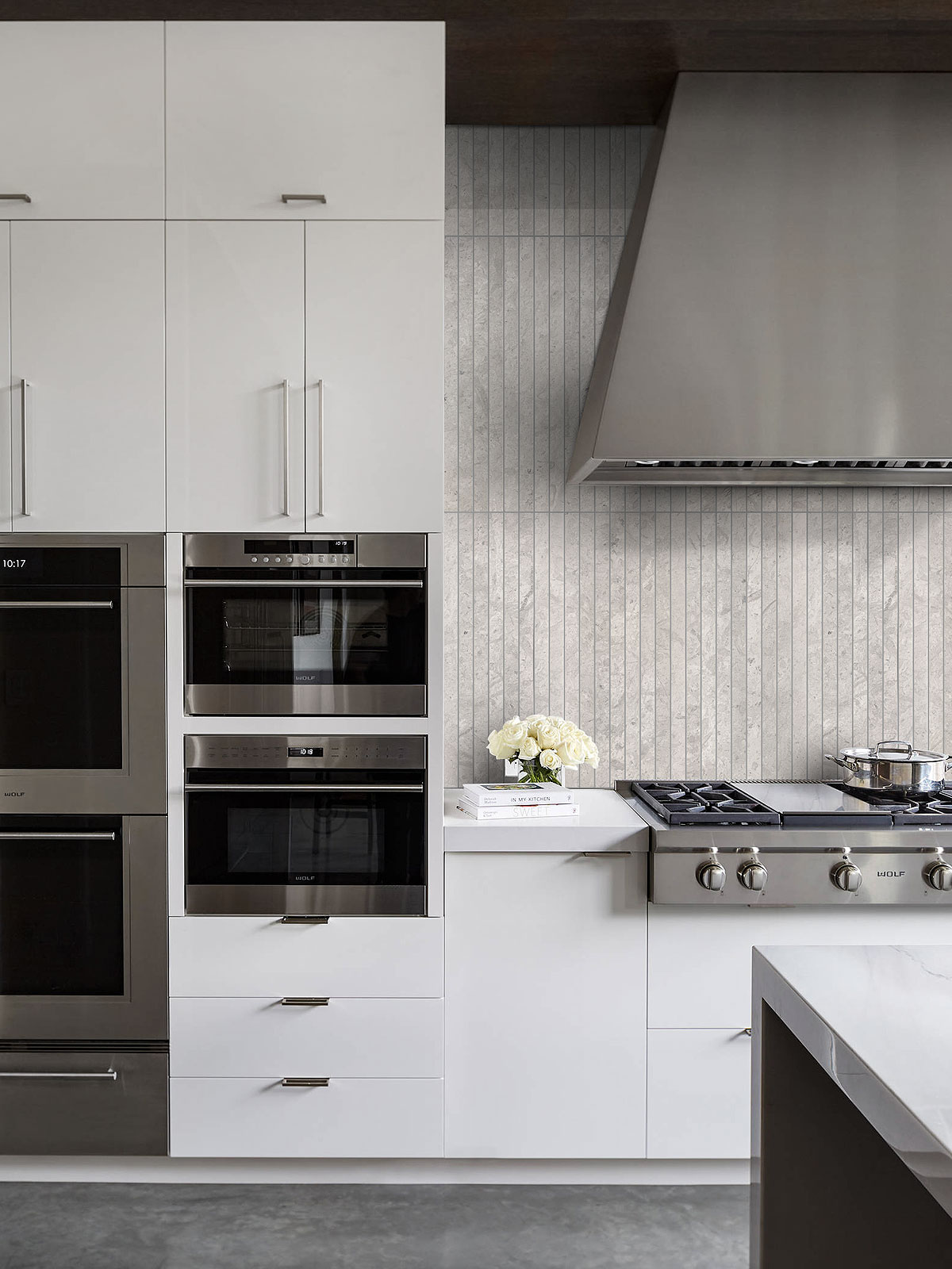 Modern White Gray Kitchen Backsplash Tile Ba1038