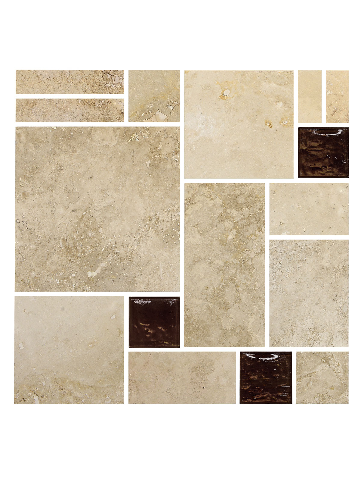 Travertine Glass Backsplash Tile BA1043