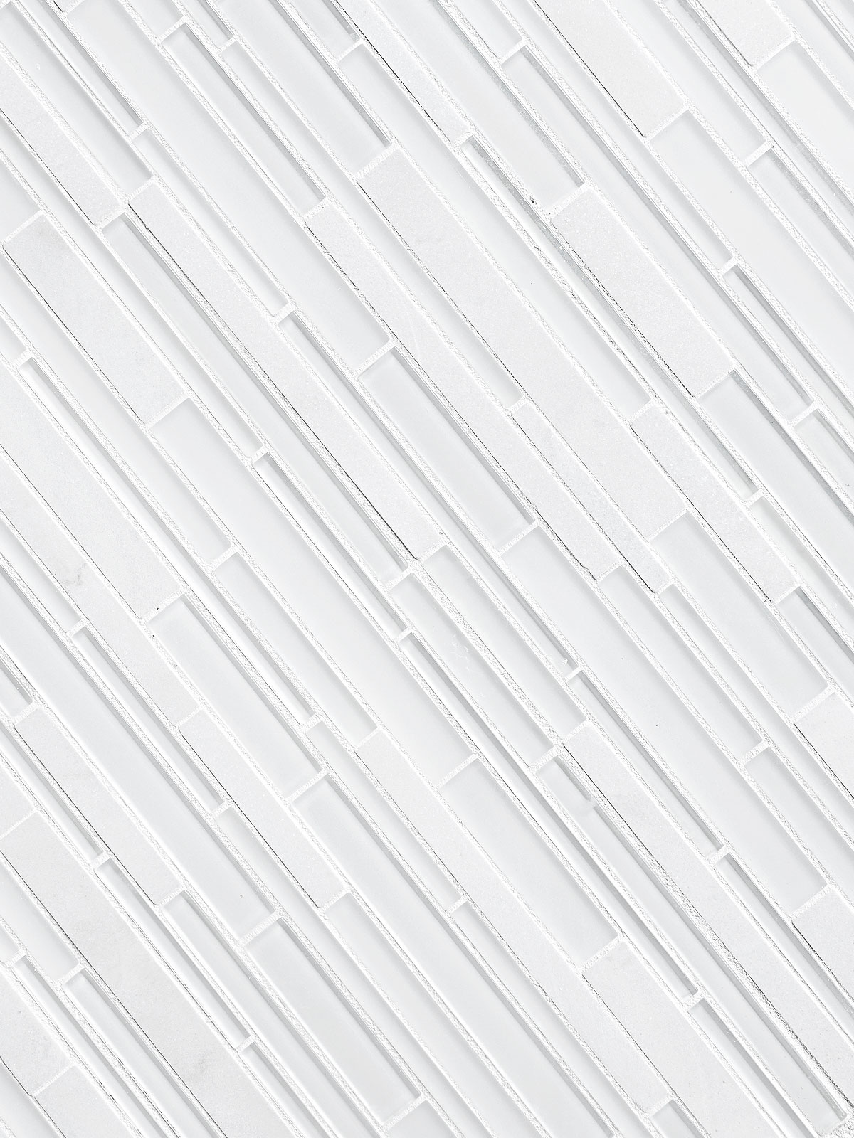 White Glass Marble Linear Backsplash Tile BA1155