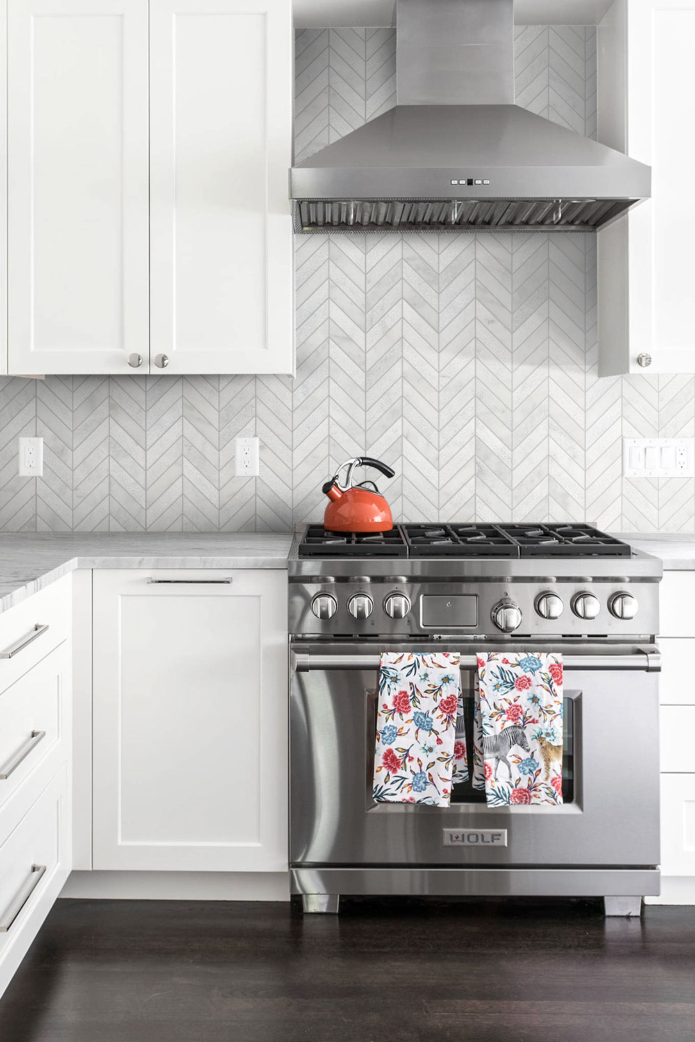 White Modern Marble Chevron Backsplash Tile Backsplash Com