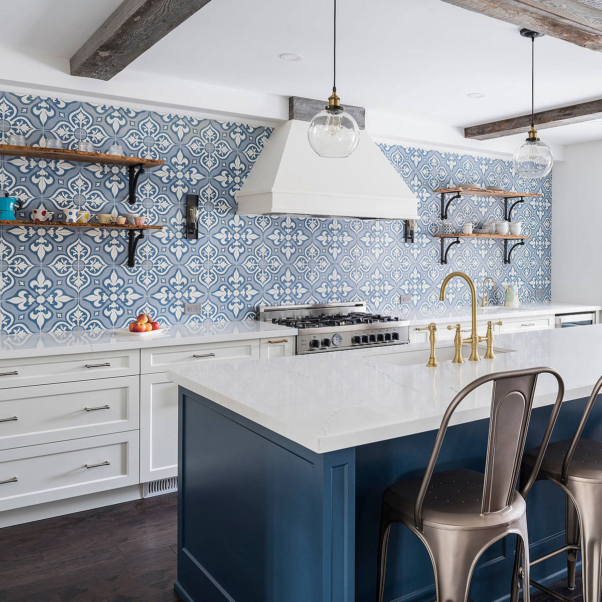 75 Blue Backsplash Ideas Navy Aqua Royal Or Coastal Blue Design