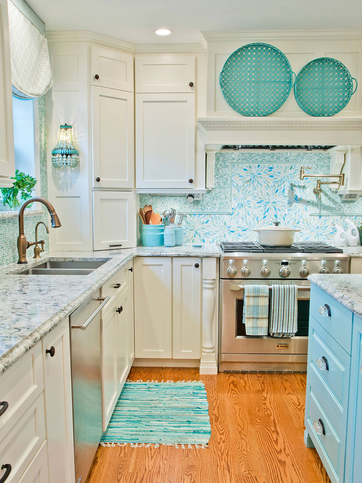 75 Blue Backsplash Ideas Navy Aqua