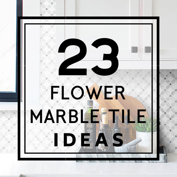 Flower Mosaic Backsplash Ideas Design