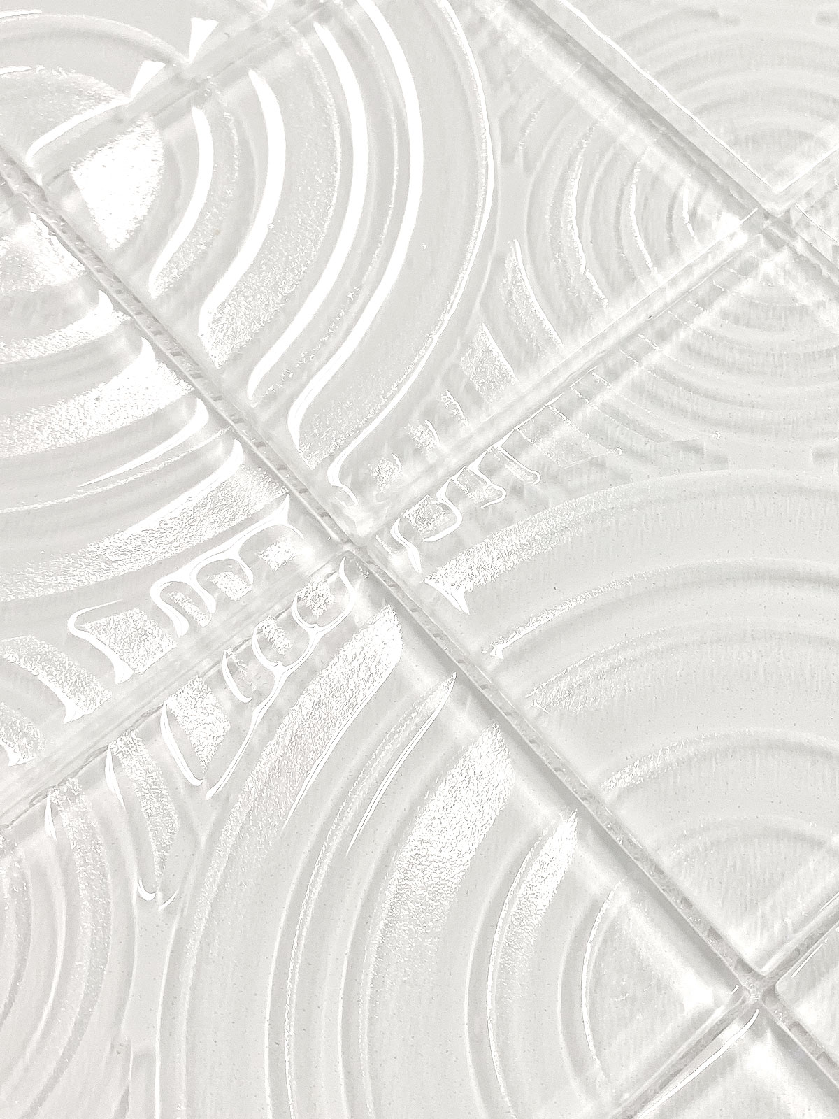 White glass mosaic backsplash pattern design BA64001 2