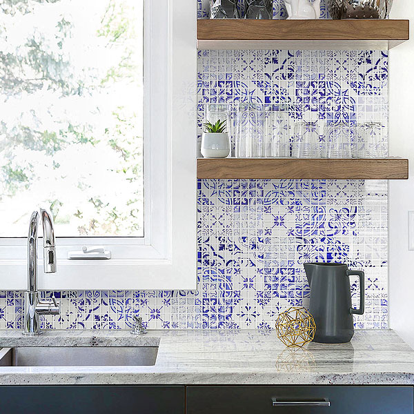 Blue Backsplash Ideas