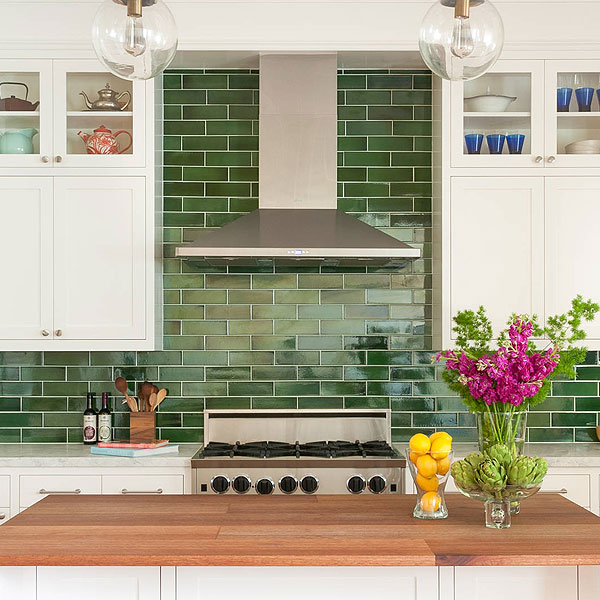 Green Backsplash Ideas