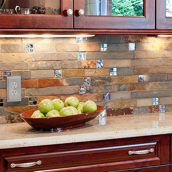 Slate backsplash ideas
