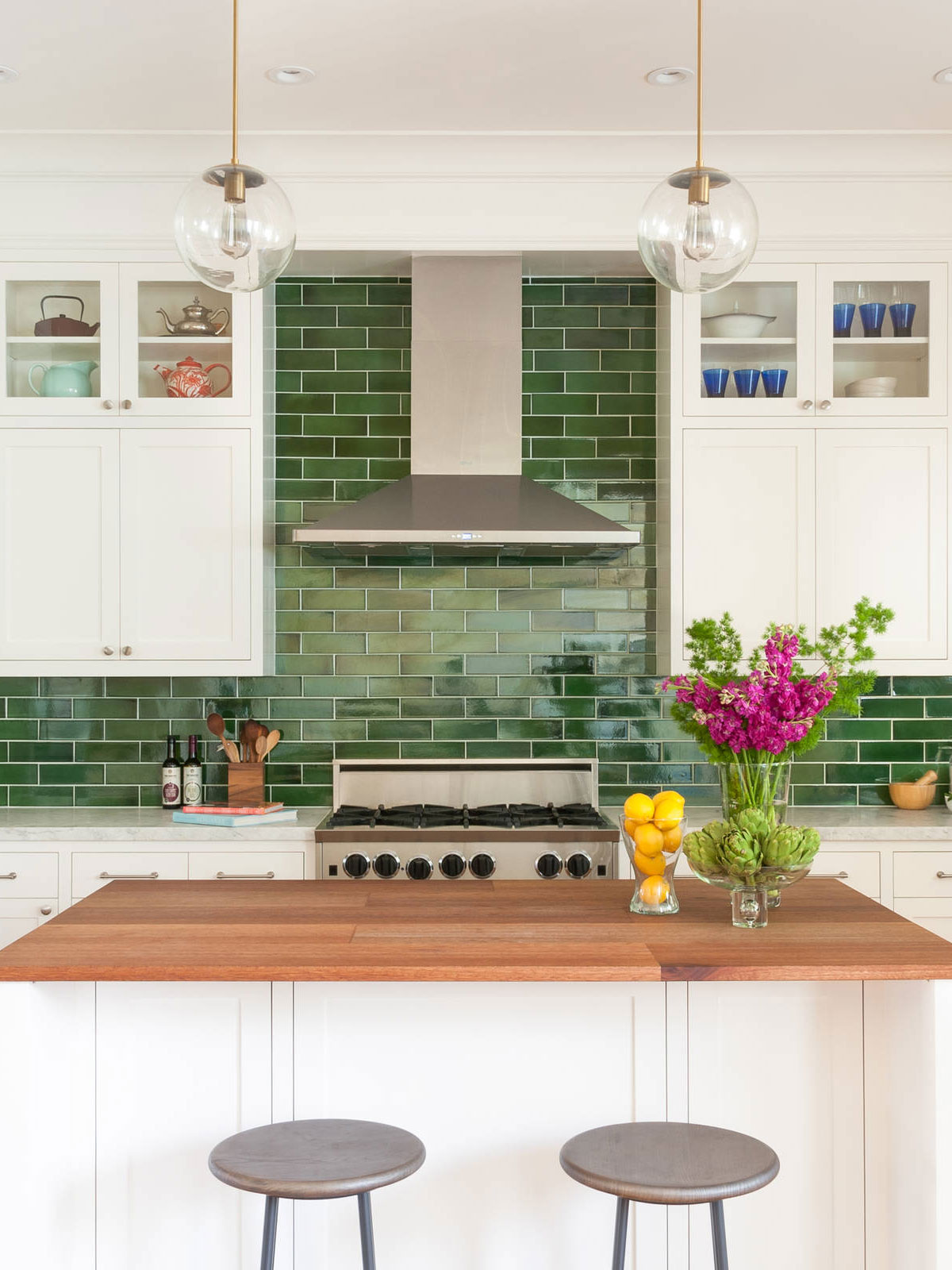 Image of: 77 Green Backsplash Ideas Inspired By Nature Green Design