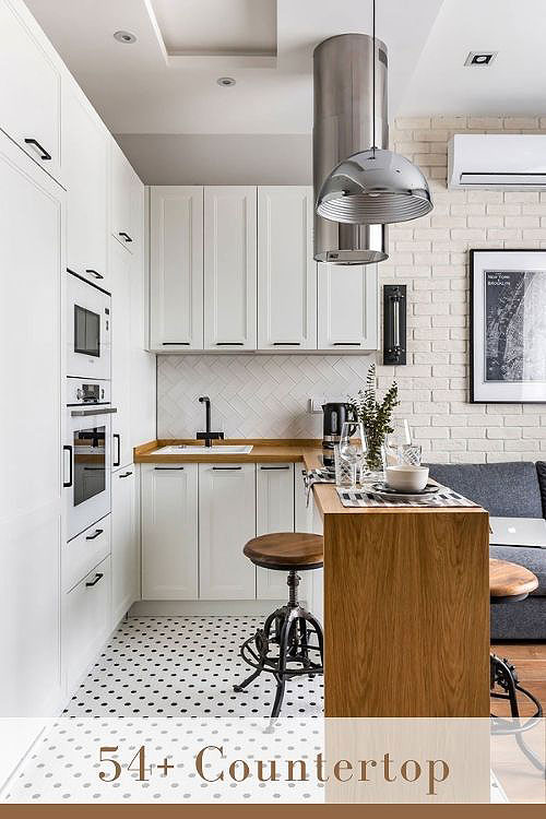white cabinets with butcher block countertops 2
