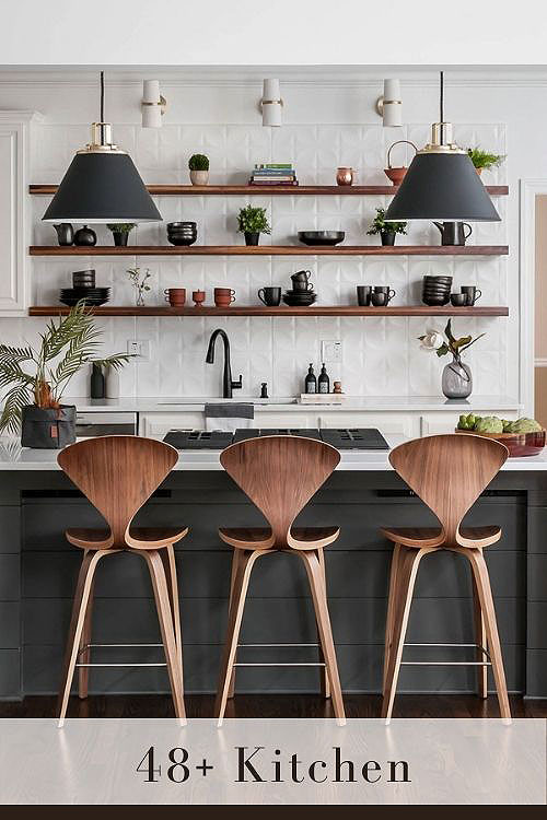 open shelving kitchen display kitchenware without trying too hard