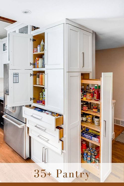 white pantry cabinet most functional part of the kitchen